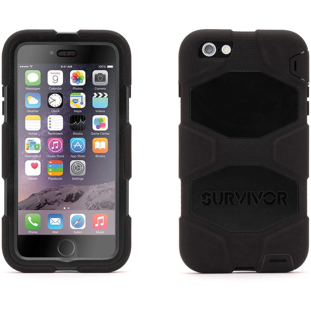 griffin technology survivor all terrain case for iphone gb40543. Black Bedroom Furniture Sets. Home Design Ideas