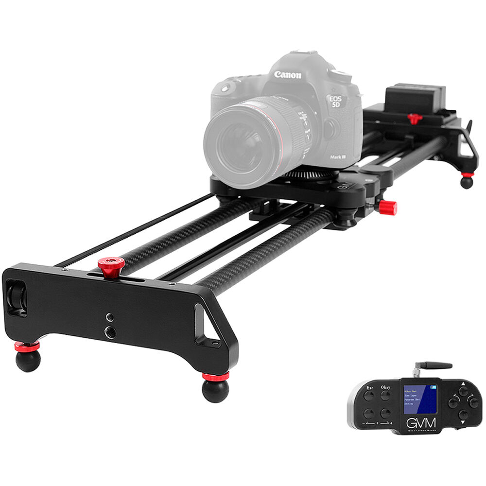 GVM Wireless Professional Video Carbon Fiber Motorized Camera Slider (31
