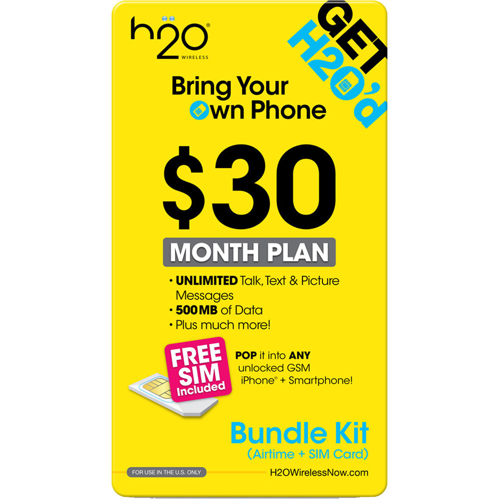 H2O WIRELESS $30 Monthly Unlimited 30-BUNDLE-AIRTME-TRIP ...