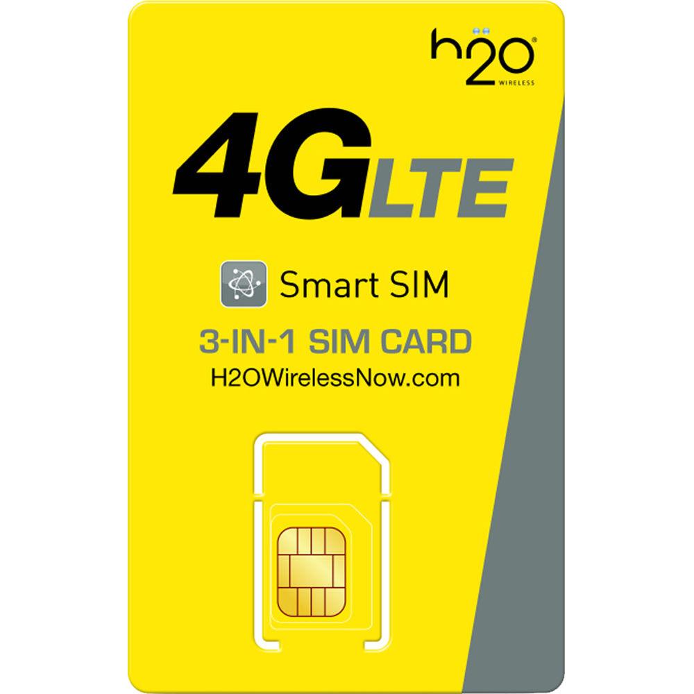 H2O WIRELESS 3-in-1 SIM Card TRIPLE-SIM-KIT B&H Photo Video