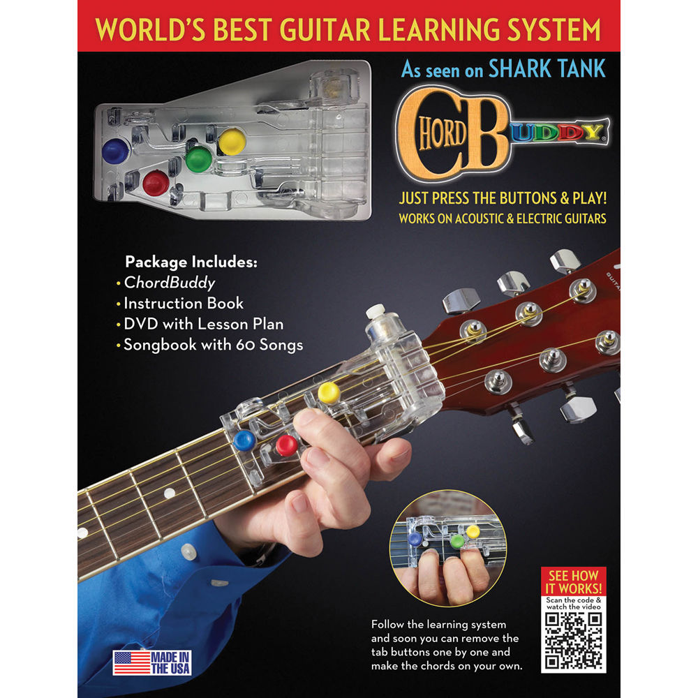 Chordbuddy Chordbuddy Guitar Learning System 139936 Bh Photo