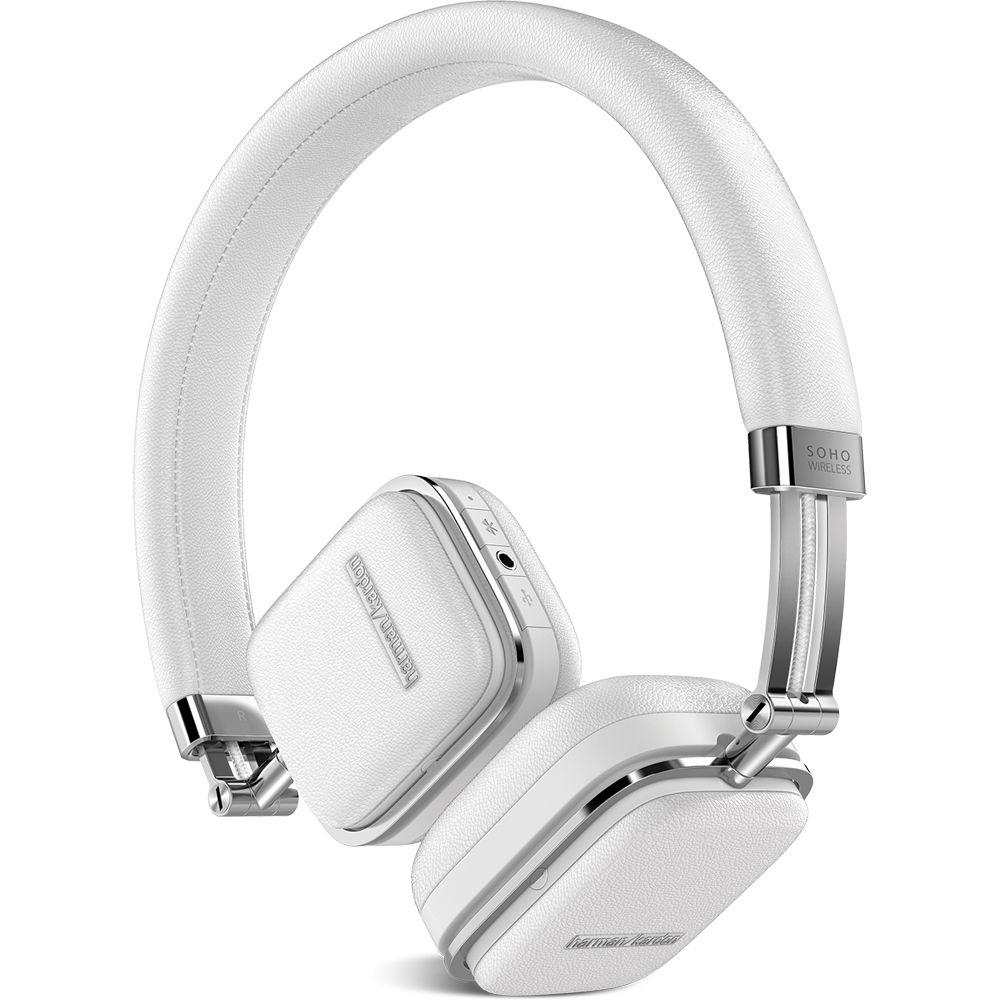 harman kardon soho bluetooth on ear headphones hksohobtwht b h. Black Bedroom Furniture Sets. Home Design Ideas