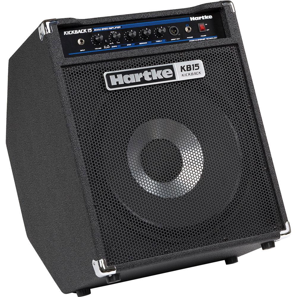 hartke kickback kb15 15 bass combo amplifier 500w kb15