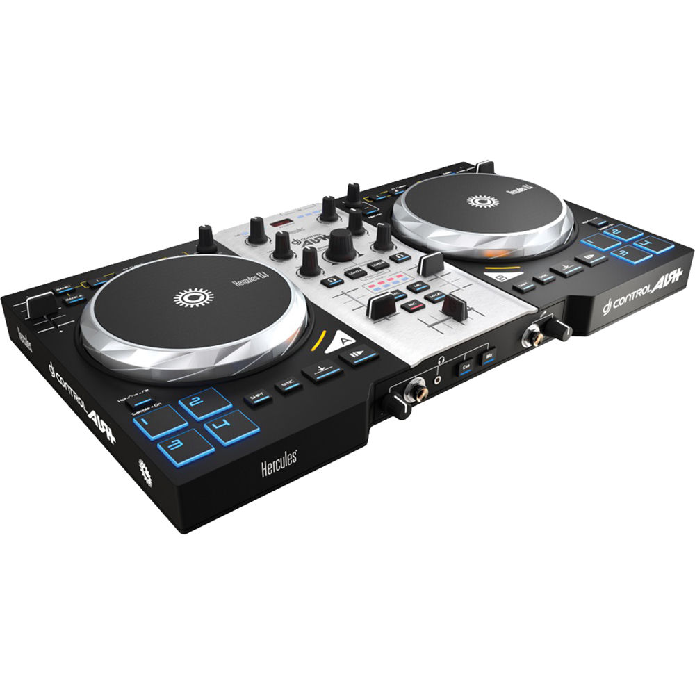 HERCULES DJ CONTROL AIR+ S SERIES 2-CHANNEL USB DJ CONTROLLER WITH SOFTWARE REVIEW