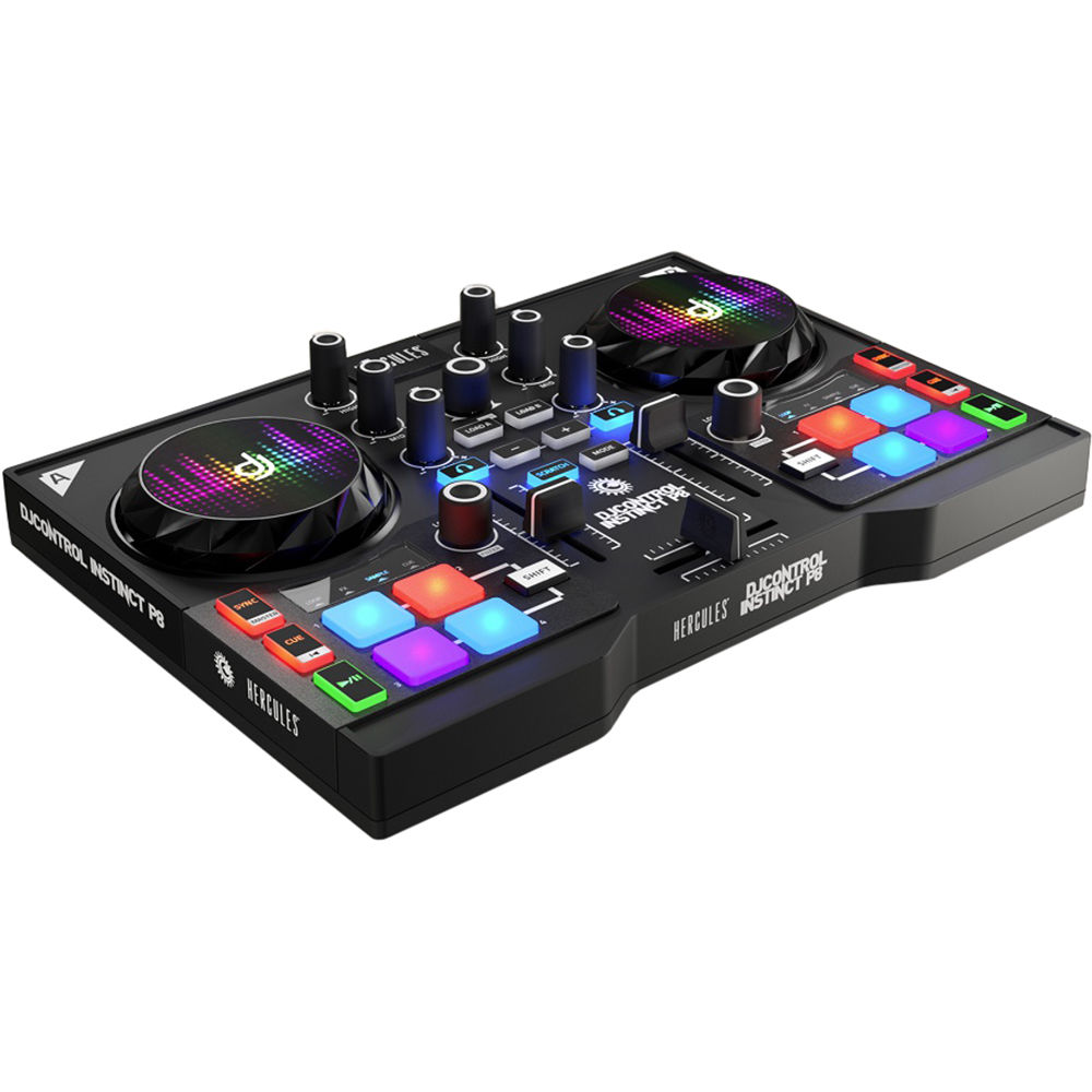 hercules djcontrol instinct p8 compact dj controller 4780861. Black Bedroom Furniture Sets. Home Design Ideas