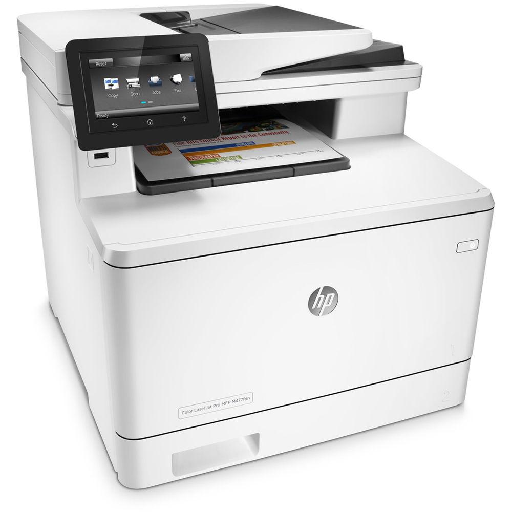Hp color laserjet professional cp5225n printer a3 ce711a office - Hp Color Laserjet Pro M477fdn All In One Laser Printer