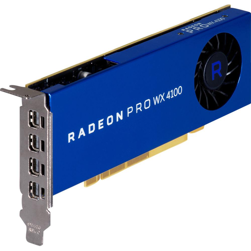 hp z0b15at radeon pro wx 4100 graphics card z0b15at bh photo