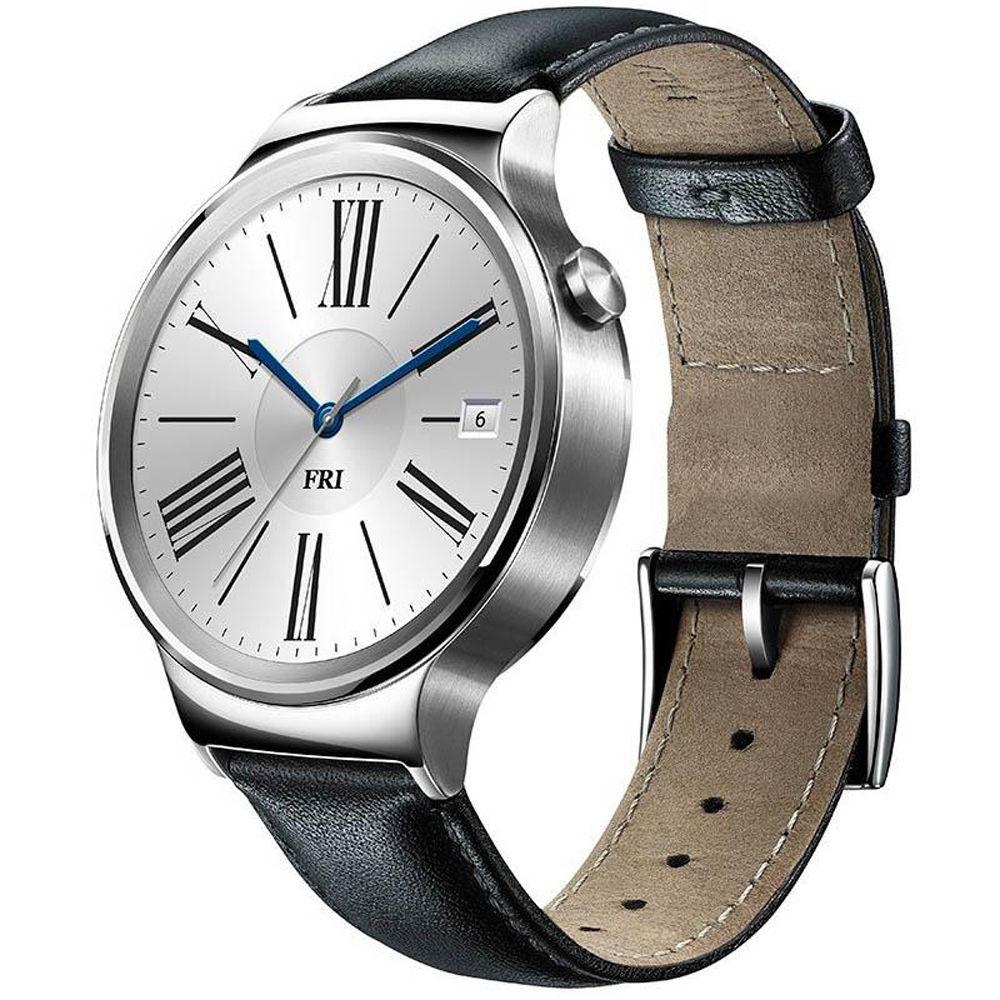 huawei 55020533. huawei watch 42mm smartwatch (stainless steel, black leather band) 55020533 b\u0026h