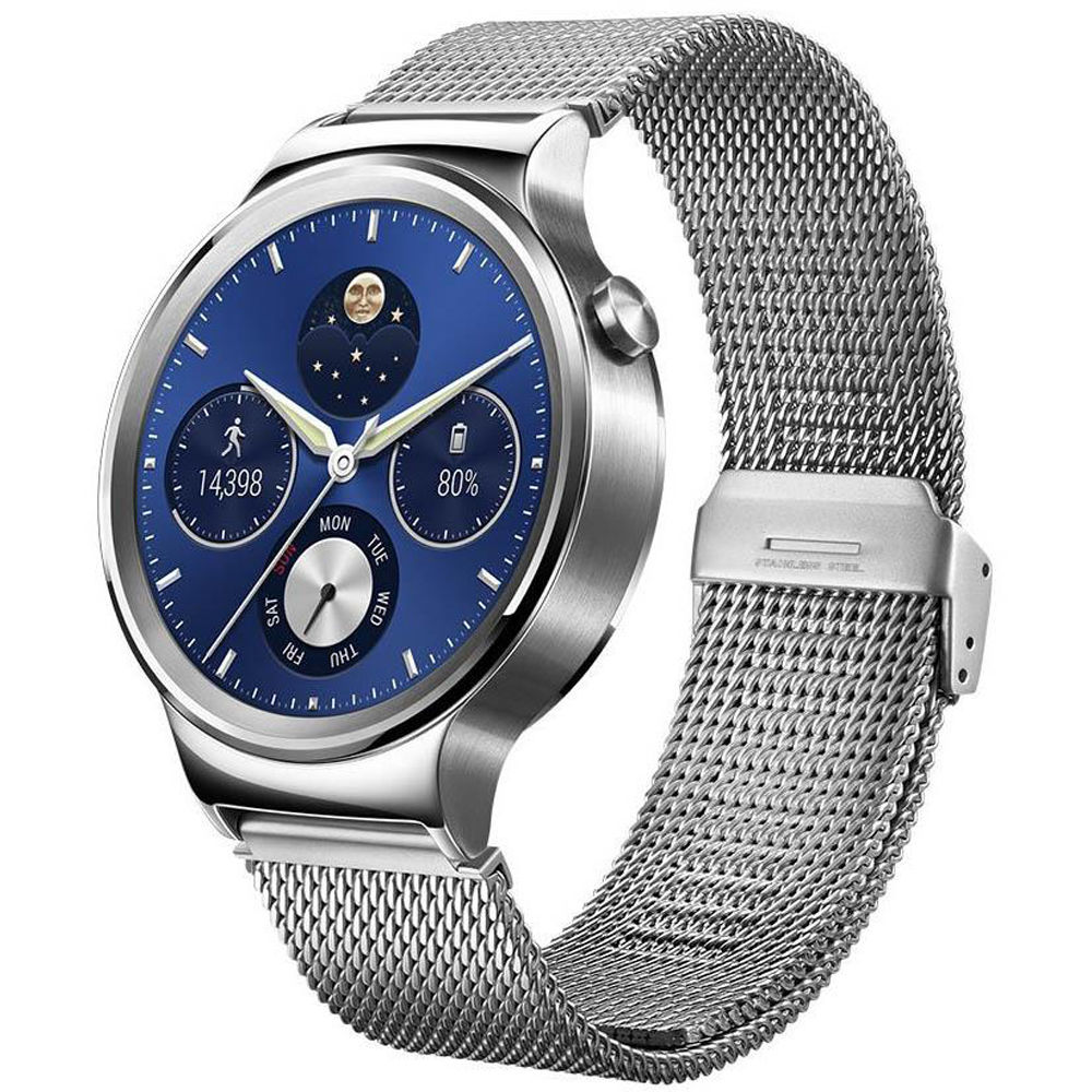 huawei smart watches. huawei watch 42mm smartwatch (stainless steel, stainless steel mesh band) smart watches r