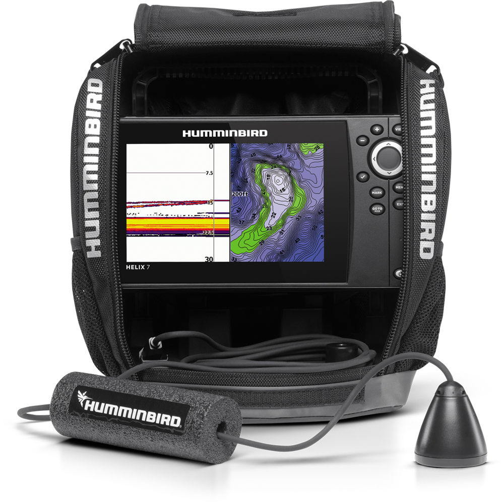 humminbird ice helix 7 sonar gps fishfinder 409900-1 b&h photo, Fish Finder