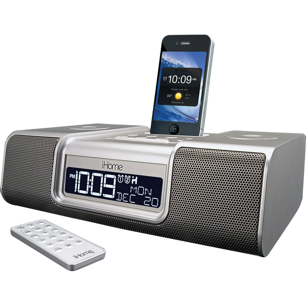 ihome ia9 app enhanced dual alarm clock radio ia9szc b h photo. Black Bedroom Furniture Sets. Home Design Ideas