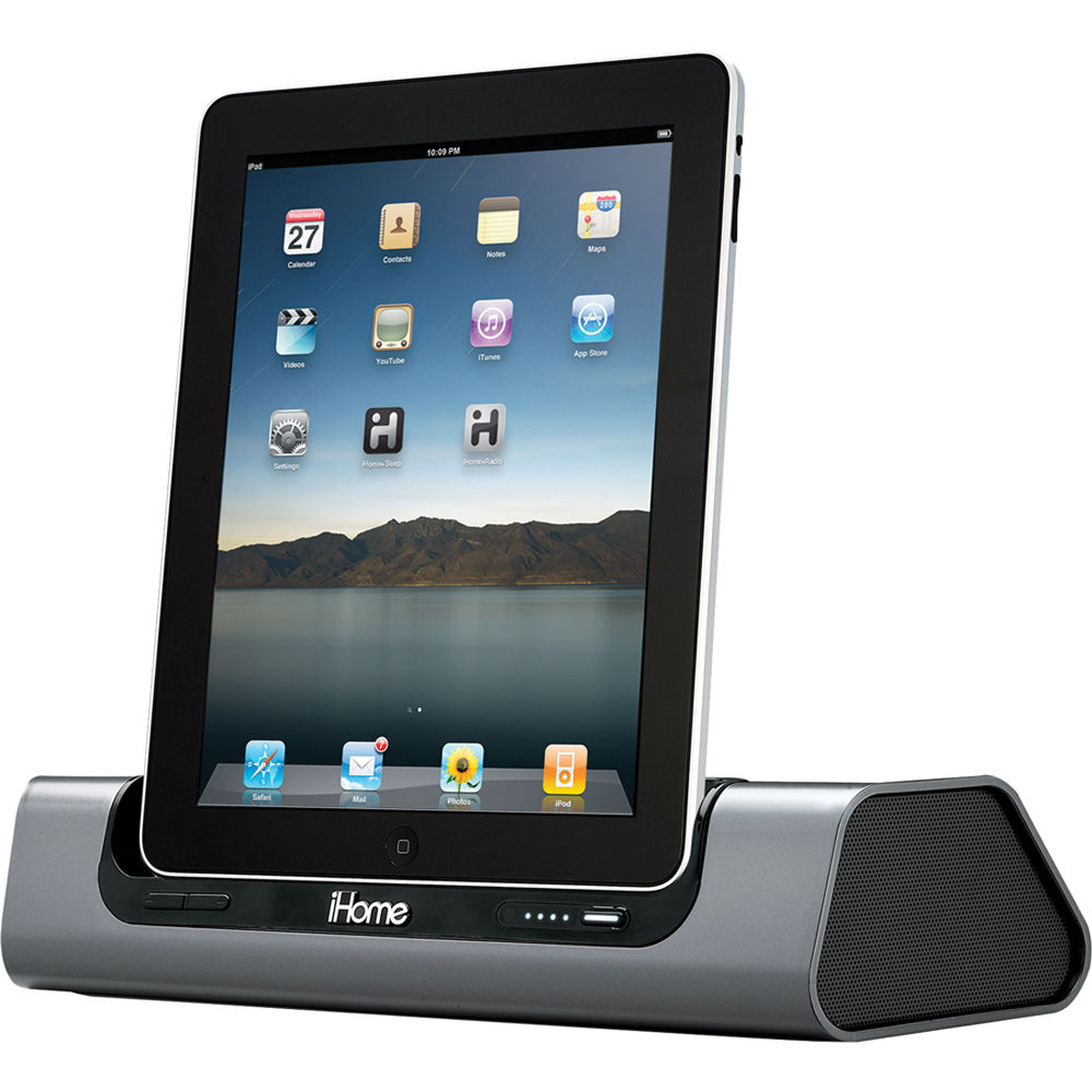 ihome id8 app friendly rechargeable speaker system id8 b h photo. Black Bedroom Furniture Sets. Home Design Ideas