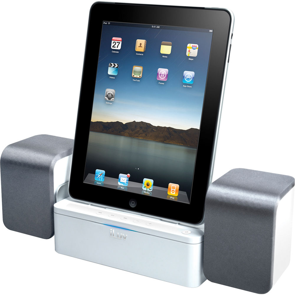 iluv imm747 audio cube speaker dock for ipad iphone. Black Bedroom Furniture Sets. Home Design Ideas