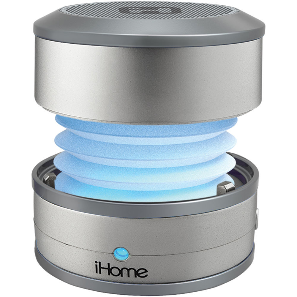 Ihome ibt59 bluetooth mini speaker ibt59sy b h photo video for Ihome speaker