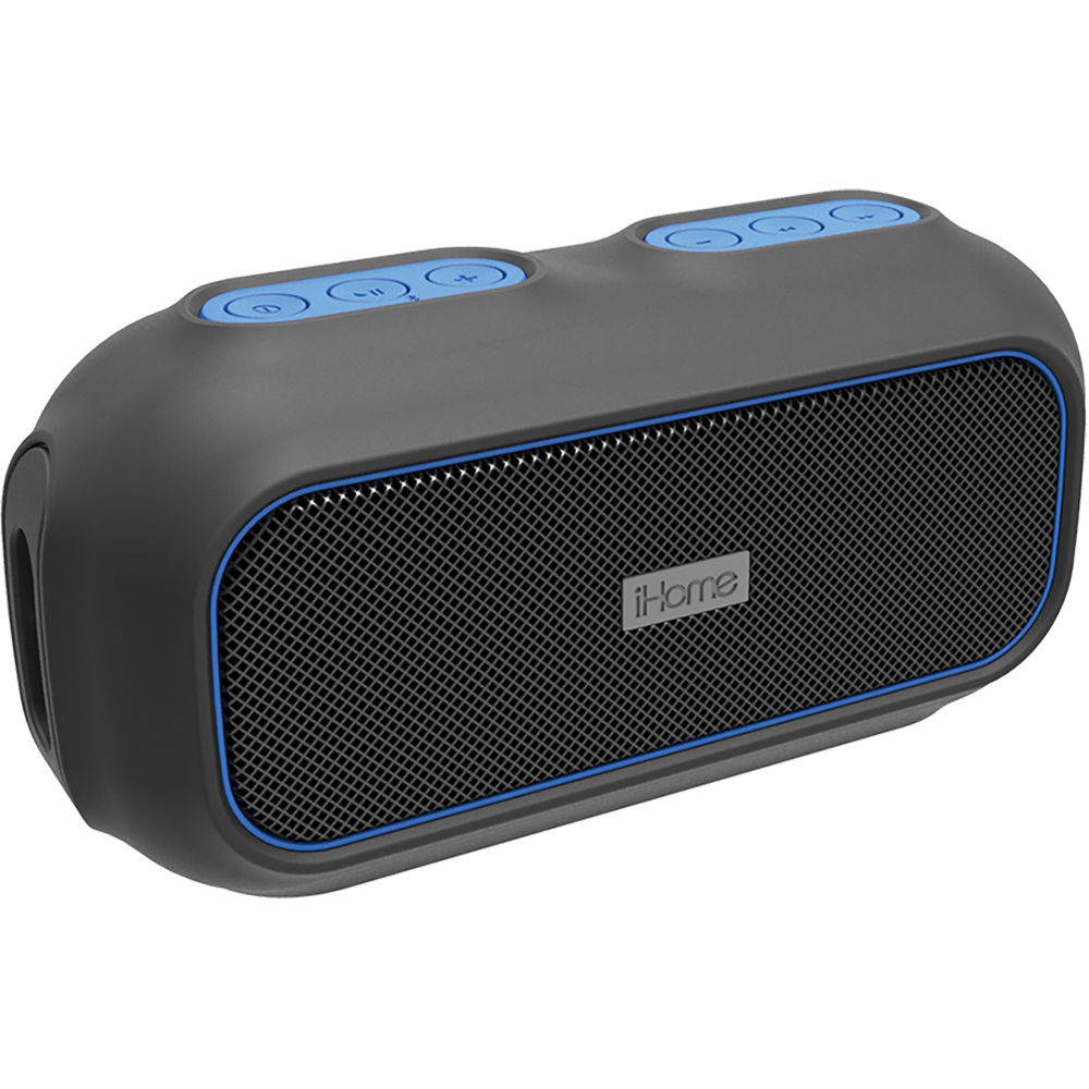 Ihome ibt9 ruggedized bluetooth wireless speaker ibt9blc b h for Ihome speaker