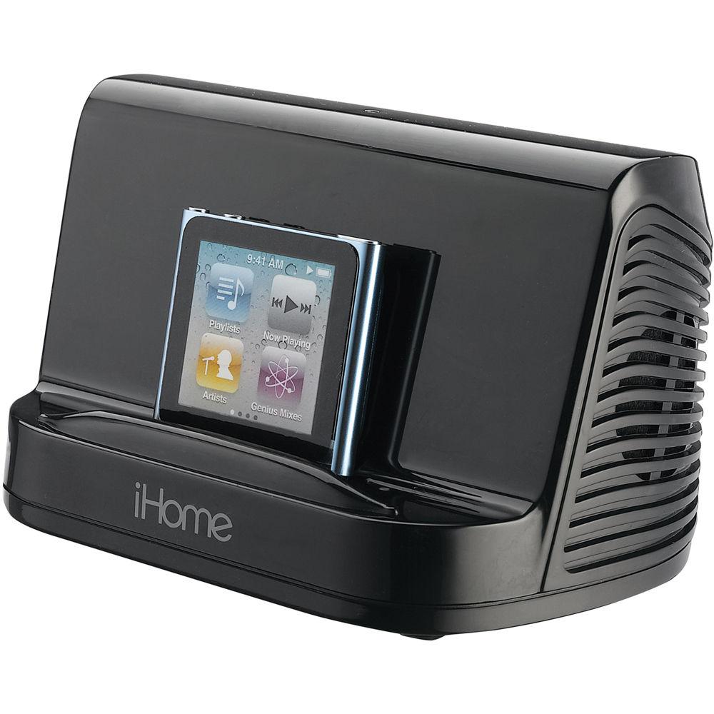 Ihome Portable Stereo Speaker System Black Ihm16b B H Photo