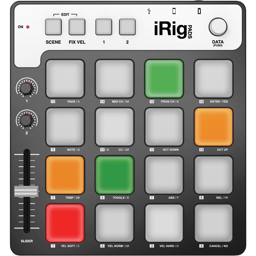 ik multimedia irig pads midi pad controller ip irig pads in b h. Black Bedroom Furniture Sets. Home Design Ideas