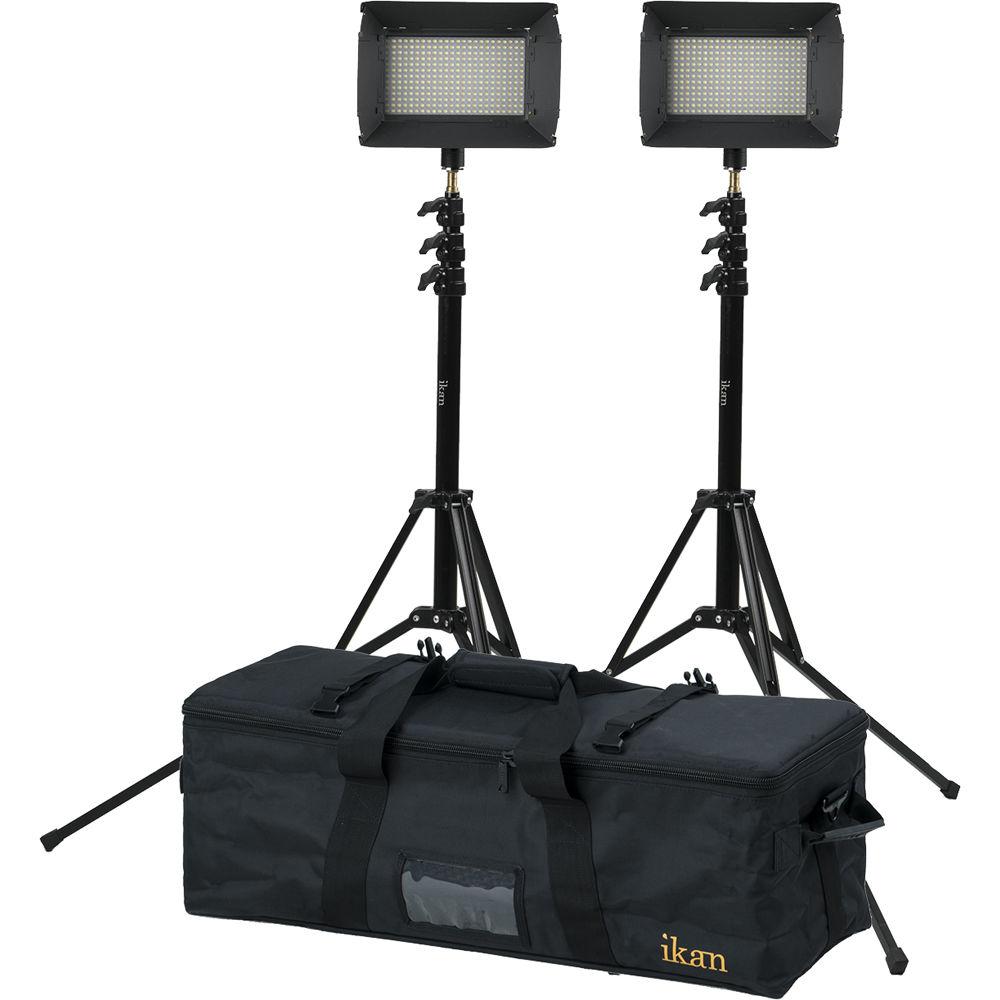 Studio Lighting Kit Amazon: Ikan ILED312-V2 2-Point Bi-Color Flood Light ILED312-V2