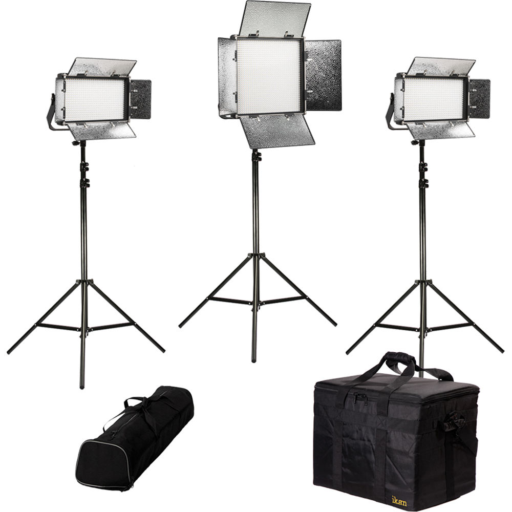 ikan Rayden Bi-Color 3-Point LED Light Kit with 1 x RB10 and  sc 1 st  Bu0026H & ikan Rayden Bi-Color 3-Point LED Light Kit with 1 x RB10 RB-1F2H