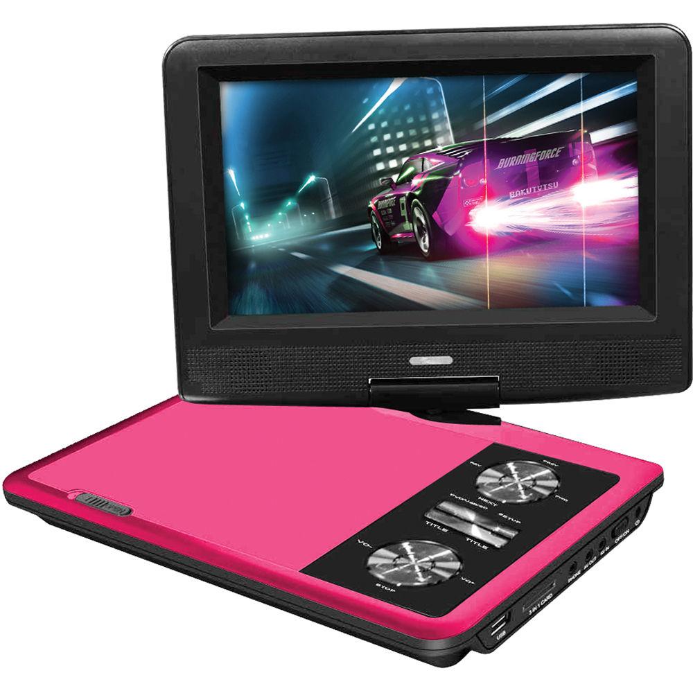 impecca 7 portable 270 swivel dvd player dvp775p b h. Black Bedroom Furniture Sets. Home Design Ideas