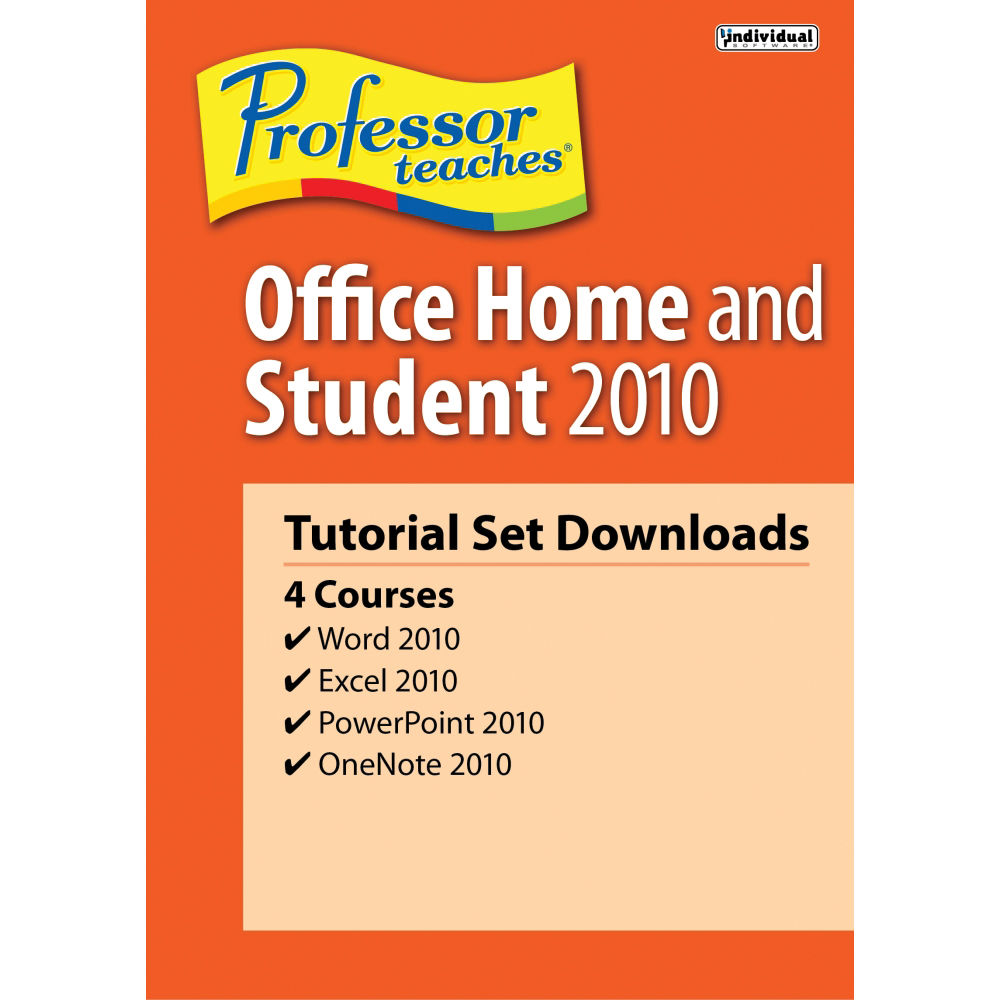 Individual Software: Individual Software Professor Teaches Office Home 2010 PDB-OHS
