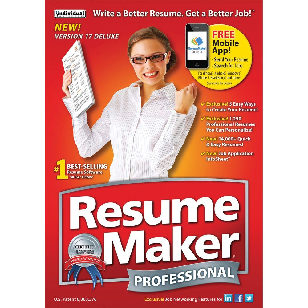 individual software resumemaker professional deluxe 17 download