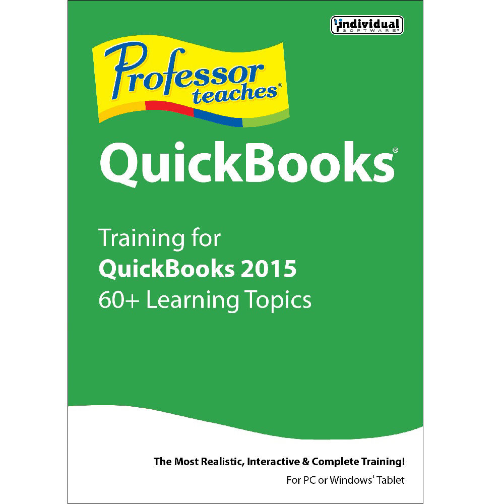 Individual Software: Individual Software Professor Teaches QuickBooks 2015 PRF-Q15