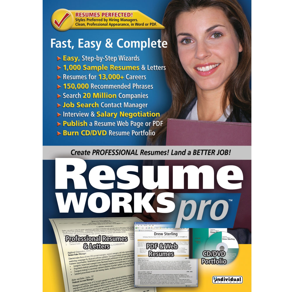 individual software resume works pro  download  esd