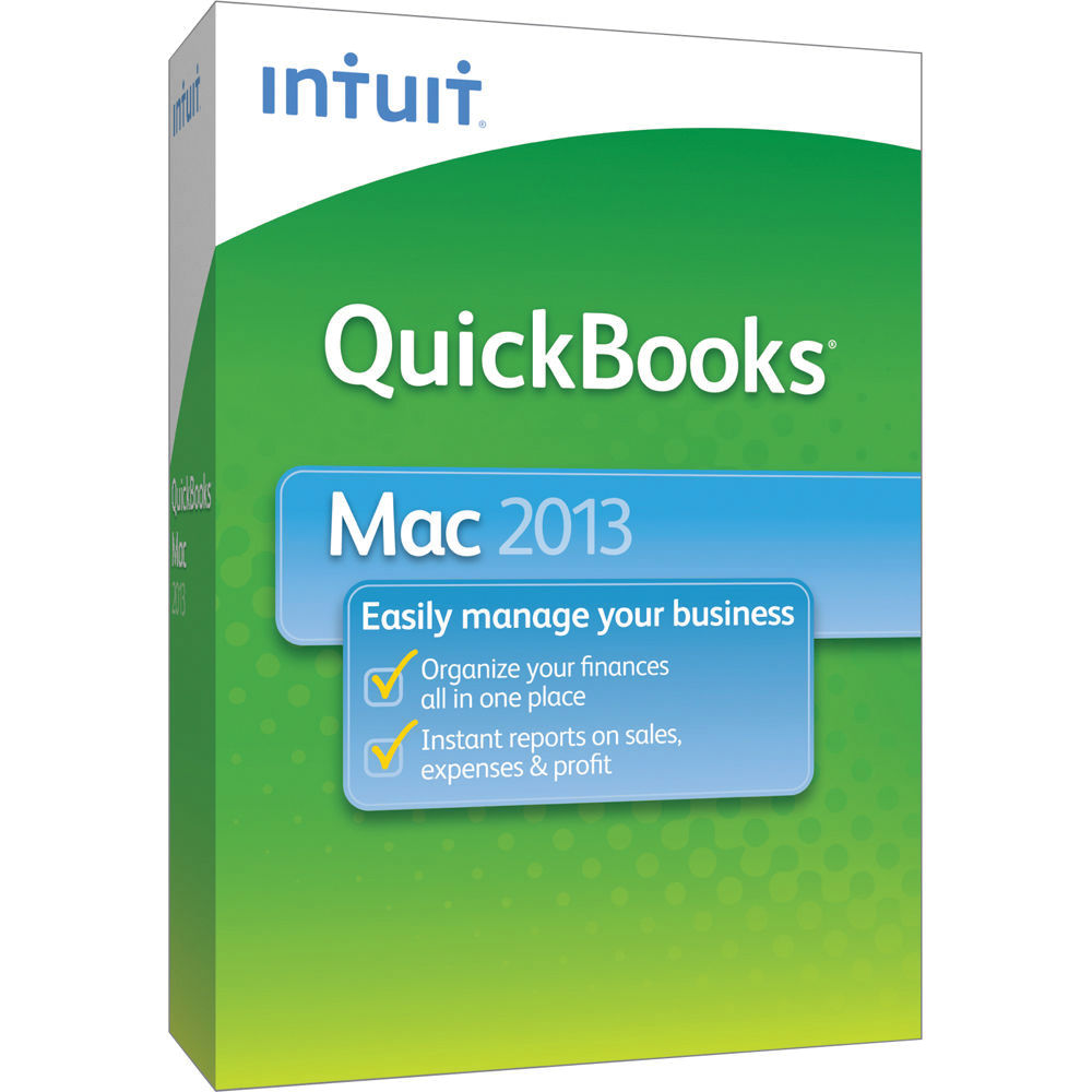 Intuit QuickBooks 2013 For Mac 0419289 B&H Photo Video
