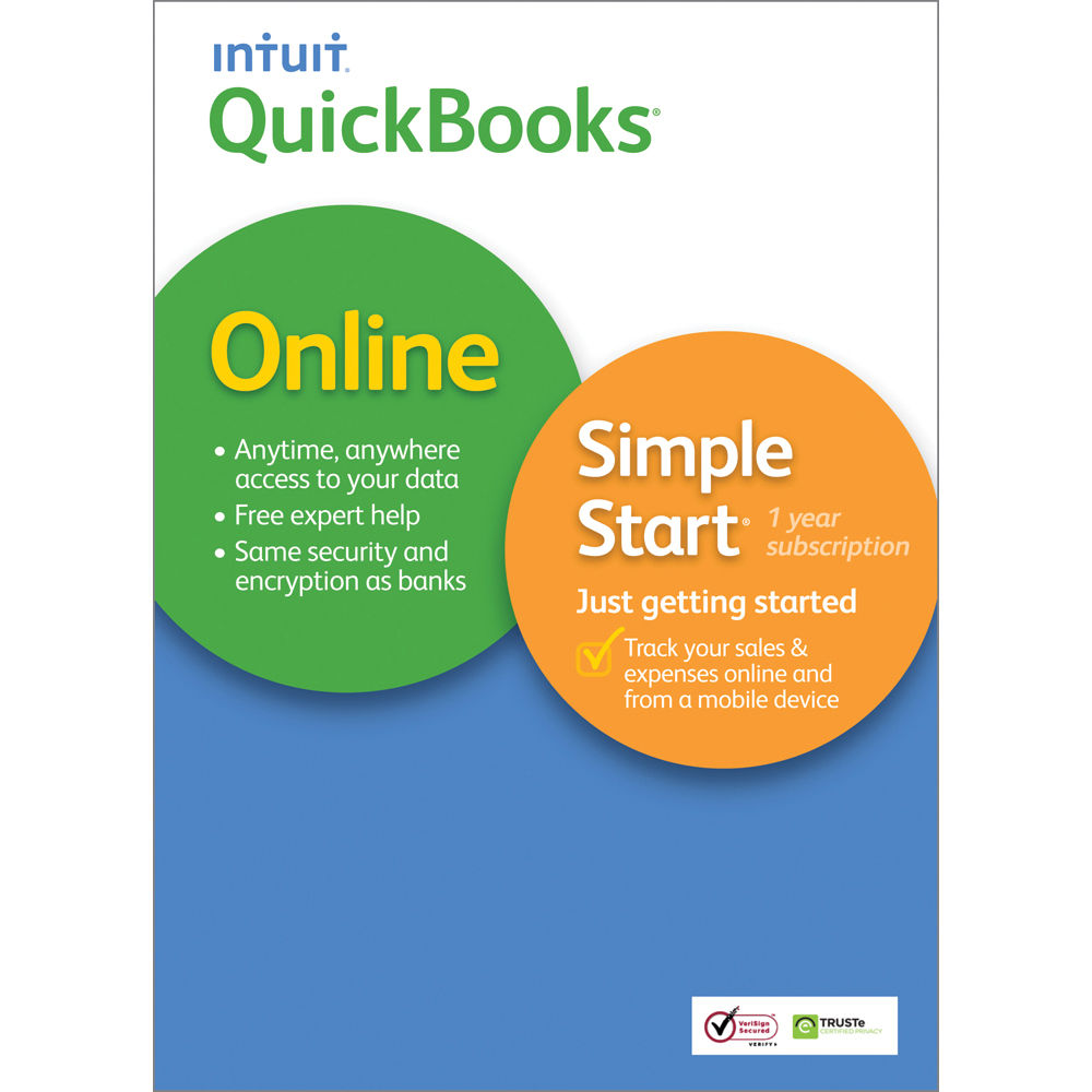 Intuit QuickBooks Online Simple Start For Mac 2014 0421420 B&H
