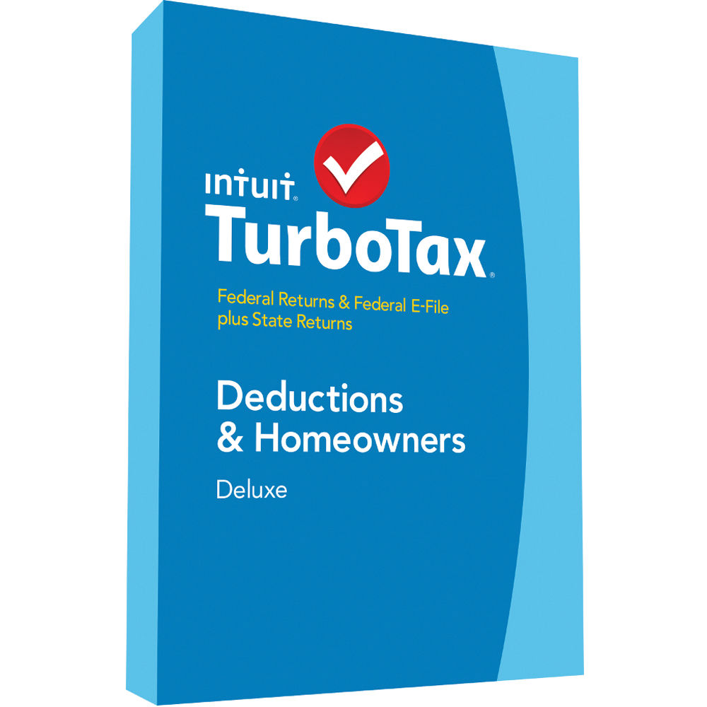 Intuit TurboTax Deluxe Federal E-File + State 2014 424487 B&H