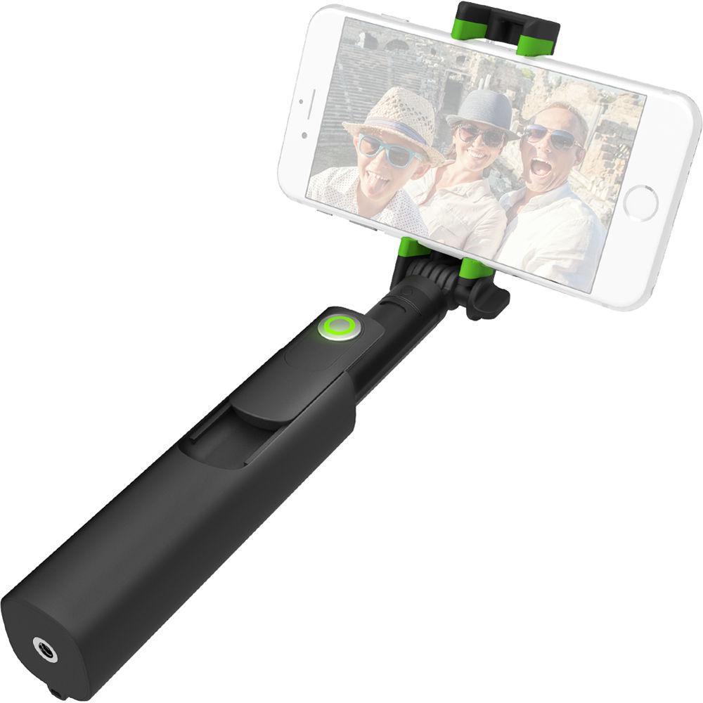 Iottie Migo Selfie Stick With Built In Bluetooth Remote: IOttie MiGo Mini Selfie Stick (Black) HLMPIO120BK B&H Photo