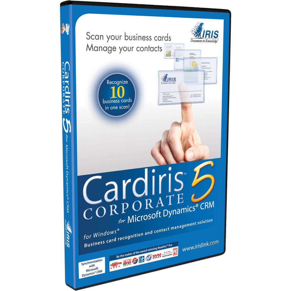 Iris cardiris corporate 5 for microsoft dynamics crm dvd reheart Images