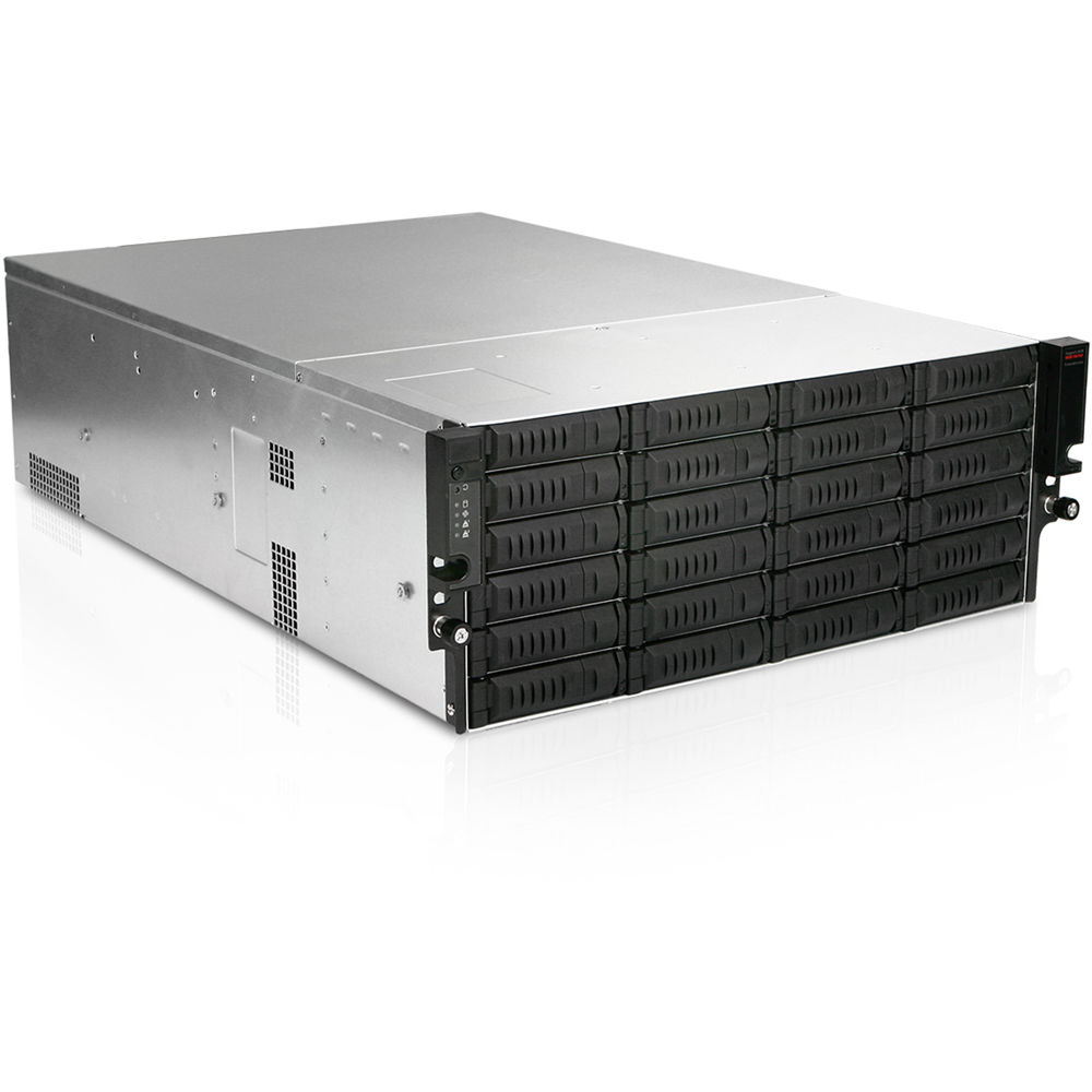 Istarusa 24 bay storage server 4u rackmount case ex4m24 b h for Storage bay
