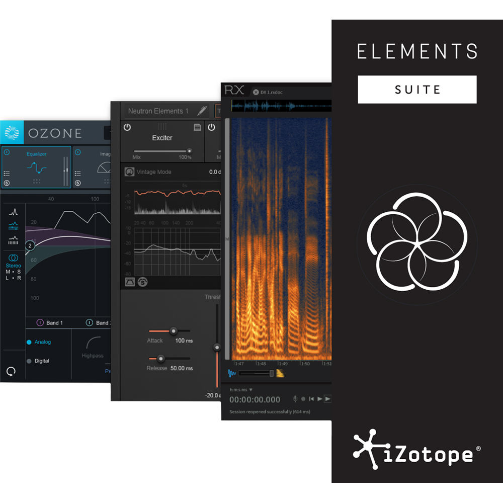 iZotope Elements Suite Software for Repairing, Mixing 10-ES B&H