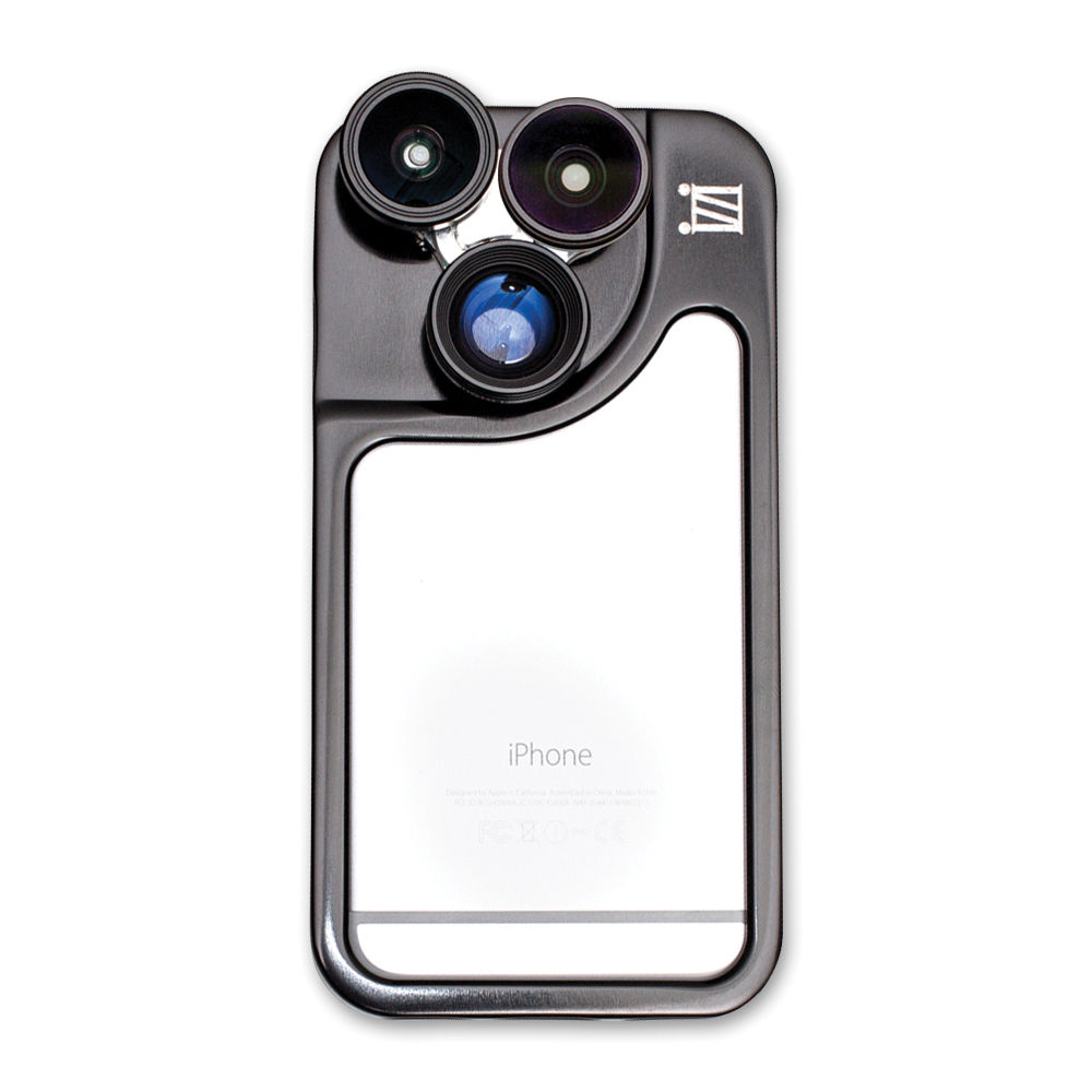056c6b40f3e iZZi Gadgets Remix 5-in-1 Lens Case System for iPhone 6 6s (Black)