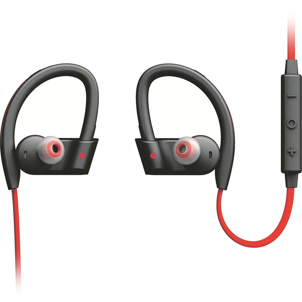 Used Jabra Sport Pace Wireless Earbuds Red Black