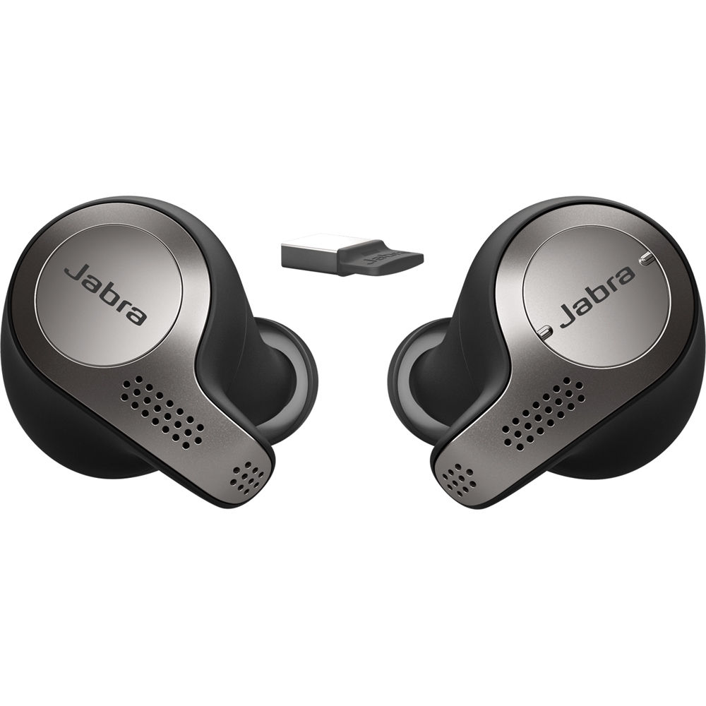 Jabra Evolve 65t Uc Wireless Earbuds Titanium Black