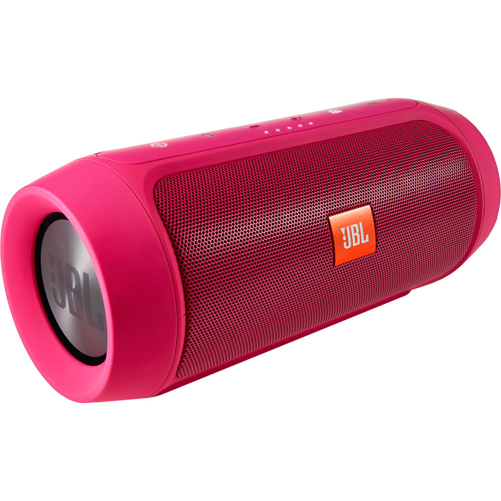 Jbl charge 2 portable stereo speaker pink charge2pluspinkam for Housse jbl charge 2