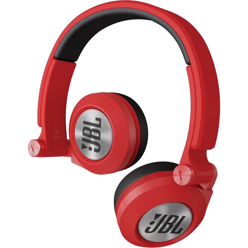 Jbl Synchros E30 On Ear Headphones Red E30red B Amp H Photo