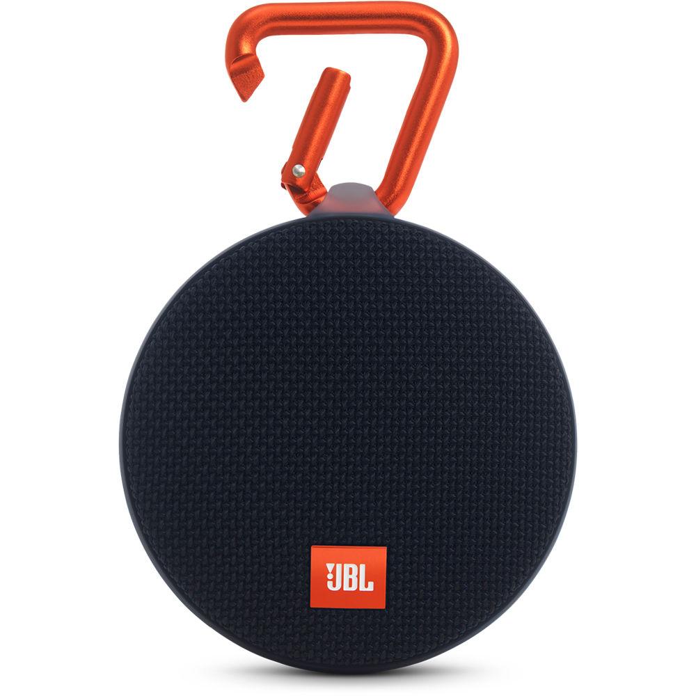 jbl clip 2 speaker black jblclip2blkam b h photo video. Black Bedroom Furniture Sets. Home Design Ideas