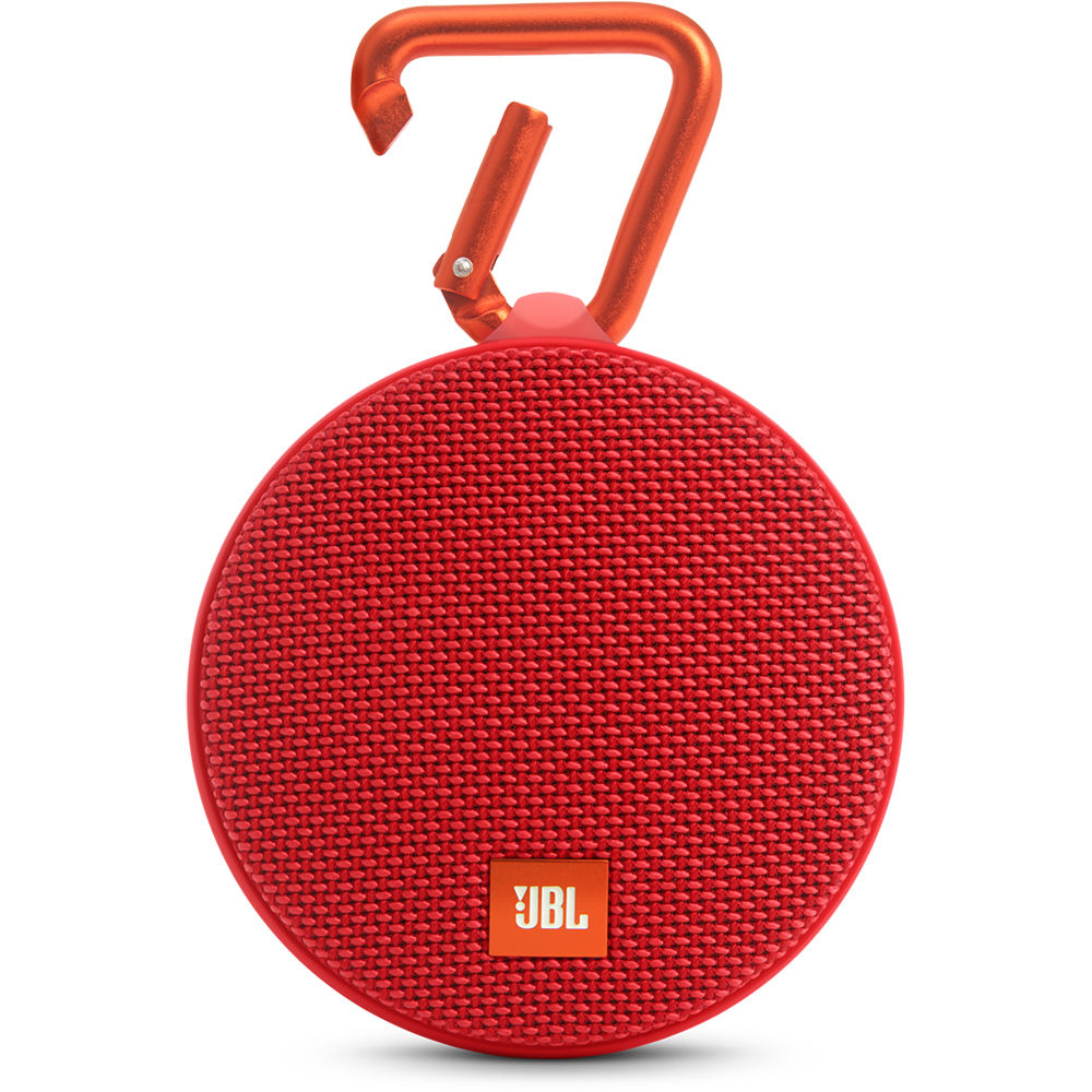 jbl clip 2 speaker red jblclip2redam b h photo video. Black Bedroom Furniture Sets. Home Design Ideas