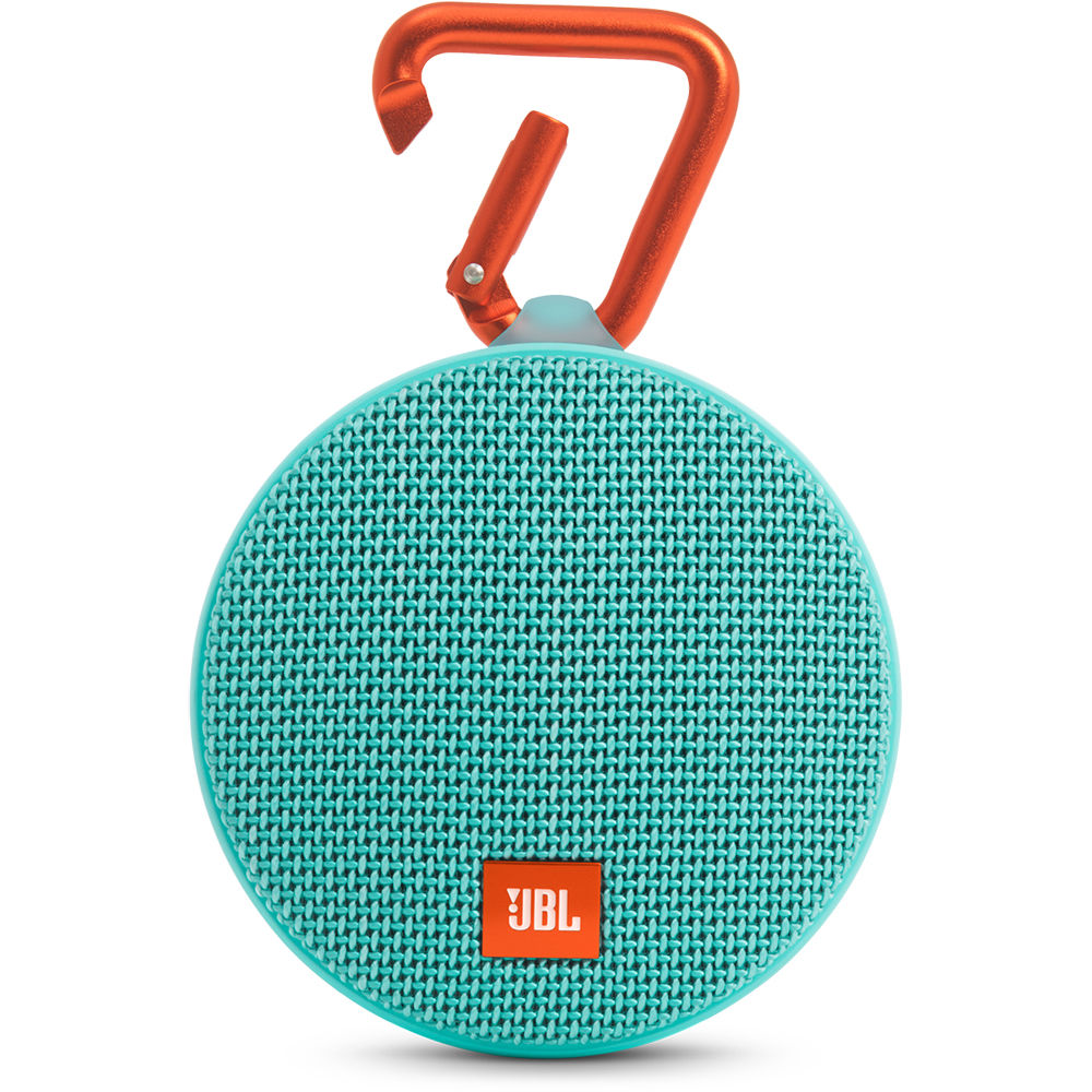 jbl clip 2 speaker teal jblclip2telam b h photo video. Black Bedroom Furniture Sets. Home Design Ideas