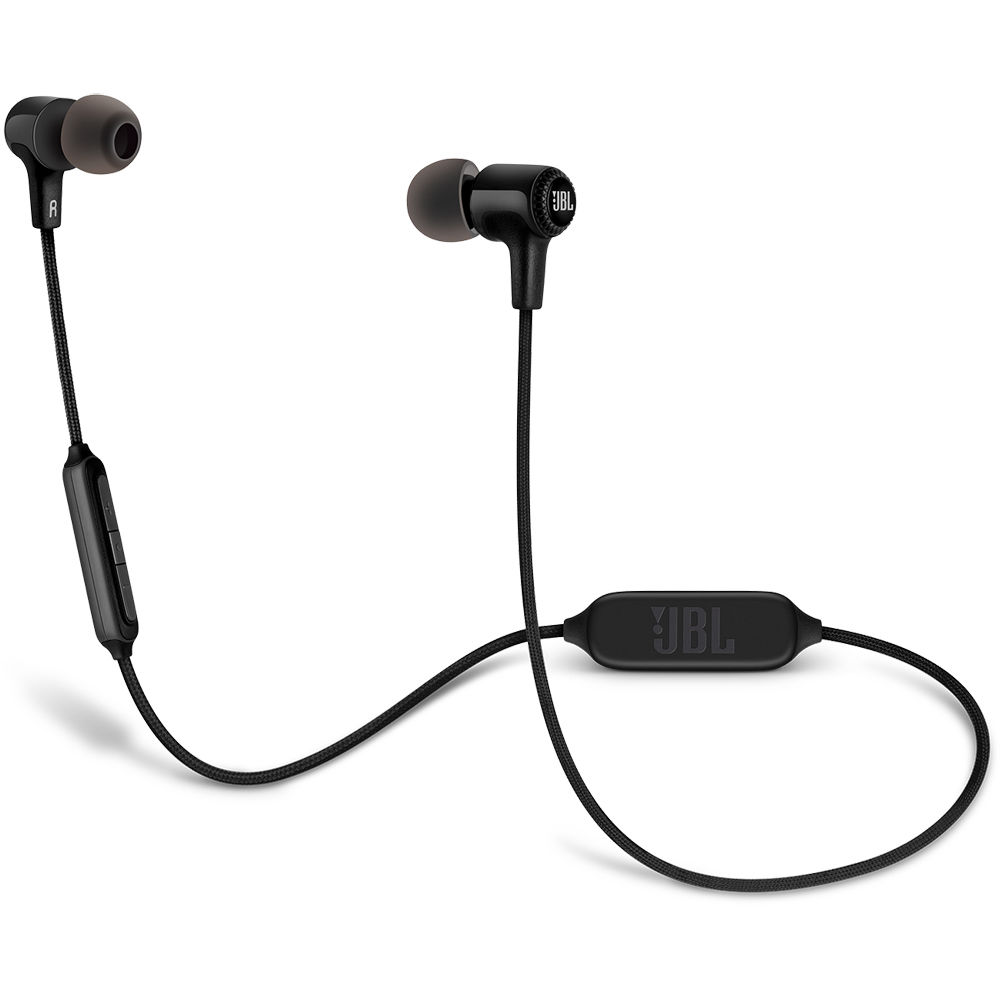 jbl e25bt bluetooth in ear headphones black jble25btblk b h. Black Bedroom Furniture Sets. Home Design Ideas