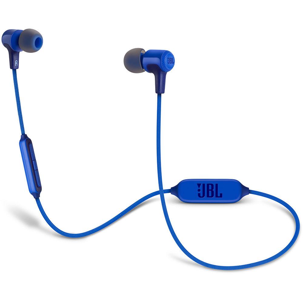 jbl e25bt bluetooth in ear headphones blue jble25btblu b h. Black Bedroom Furniture Sets. Home Design Ideas