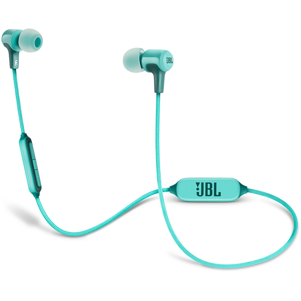 jbl e25bt bluetooth in ear headphones teal jble25bttel b h. Black Bedroom Furniture Sets. Home Design Ideas
