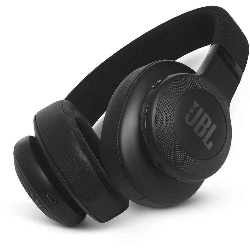 jbl e55bt bluetooth over ear headphones black jble55btblkam. Black Bedroom Furniture Sets. Home Design Ideas