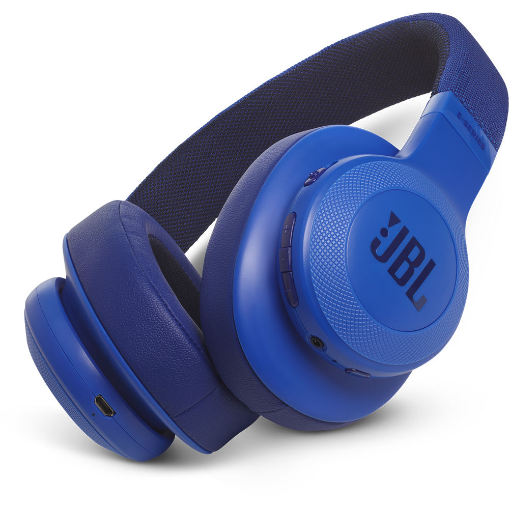 61484c24635 JBL E55BT Bluetooth Over-Ear Headphones (Blue) JBLE55BTBLUAM B&H