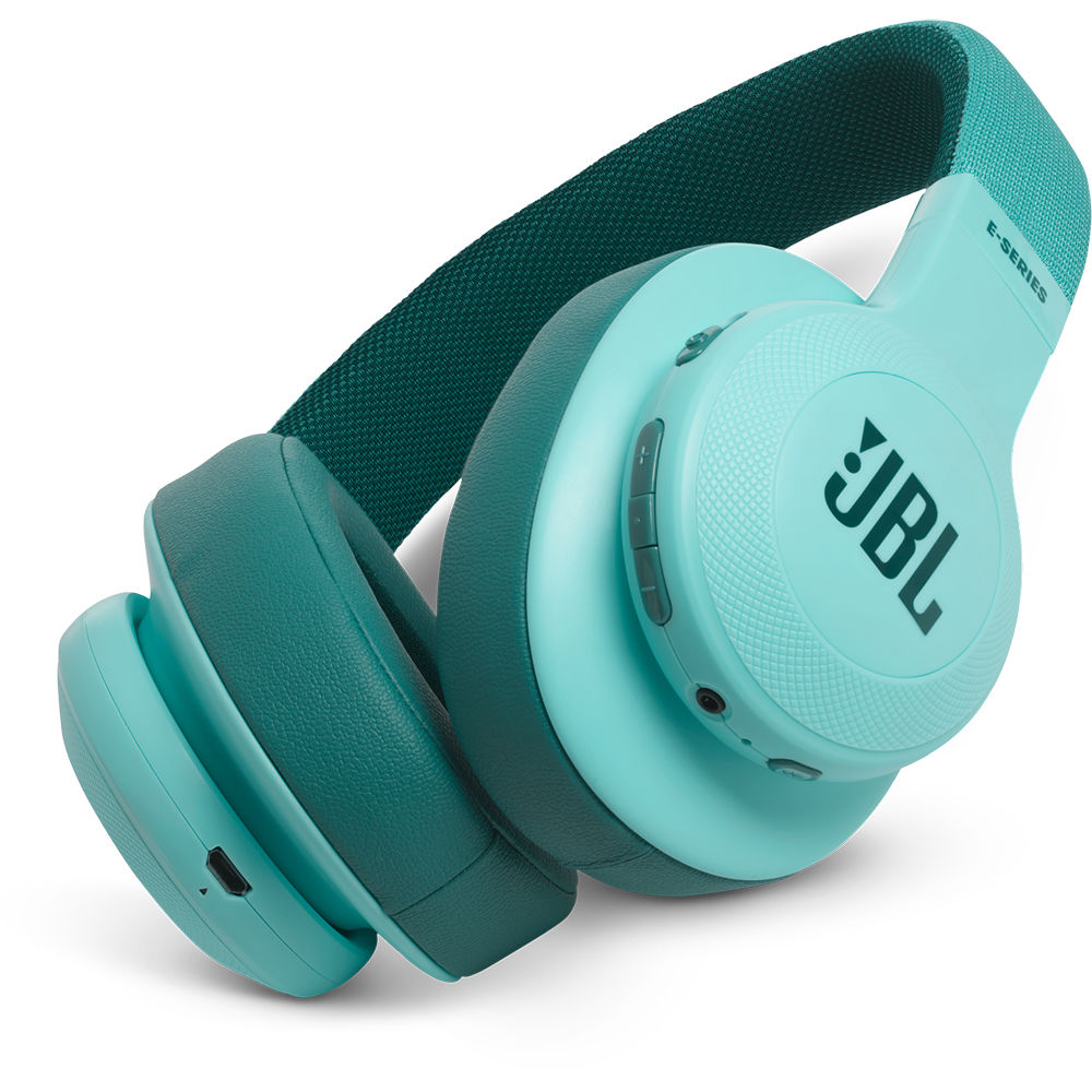799d0806dc2 JBL E55BT Bluetooth Over-Ear Headphones (Teal) JBLE55BTTELAM B&H
