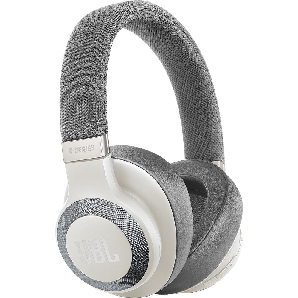 9c116aa3551 JBL E65BTNC Bluetooth Over-Ear, Noise-Canceling JBLE65BTNCWHTAM